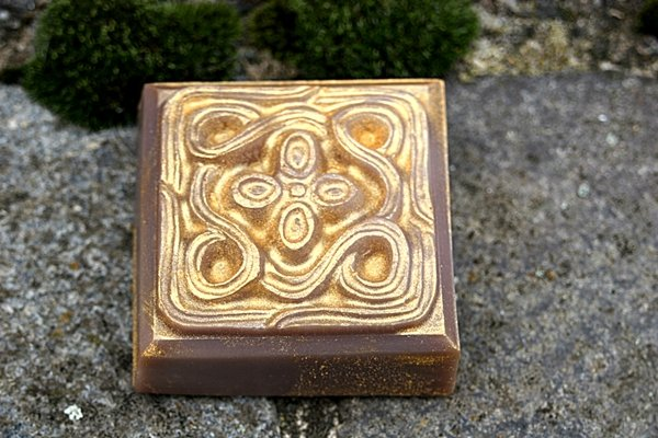 Vanilleseife keltisch mit Goldpuder
