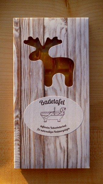 Badetafel Vanille-Elch