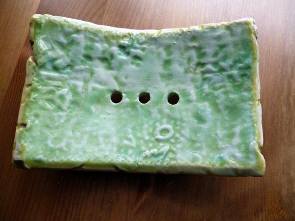 grüne Seifenschale